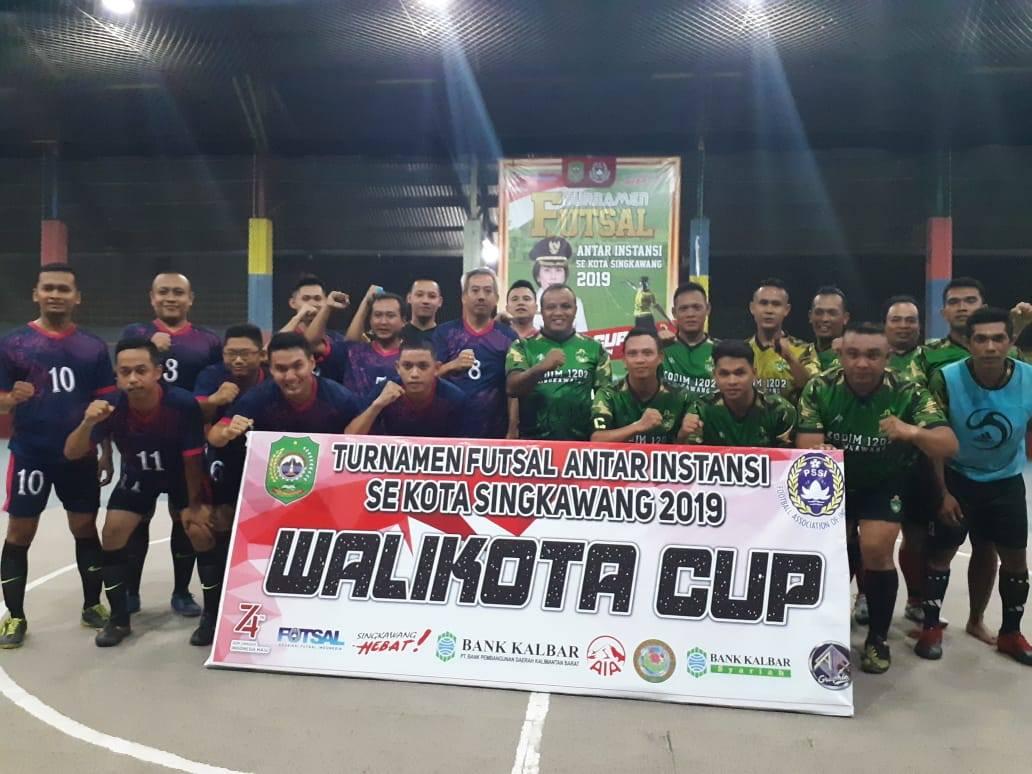 Dandim Ikut Bertanding Turnamen Futsal Antar Instansi