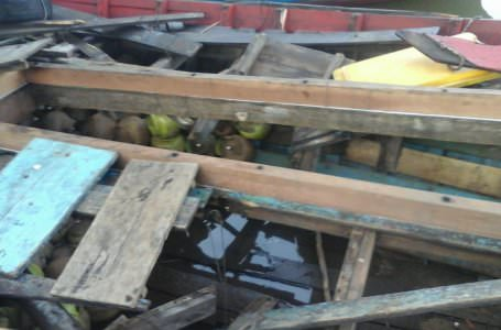 Kapal motor membawa tabung gas 3 kilo meledak di Pelabuhan Teluk Batang, Kabupaten Kayong Utara.