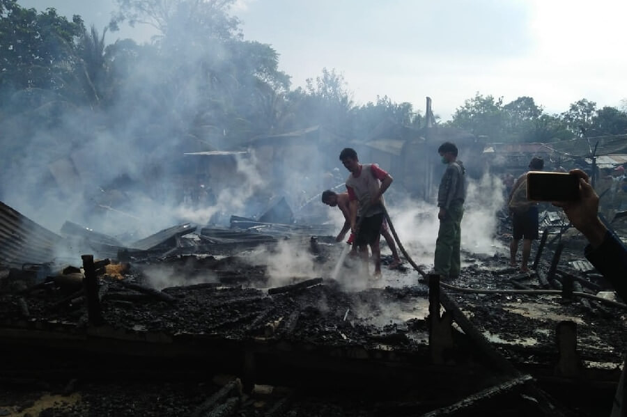 Tujuh Rumah Warga Ludes Dilalap Api