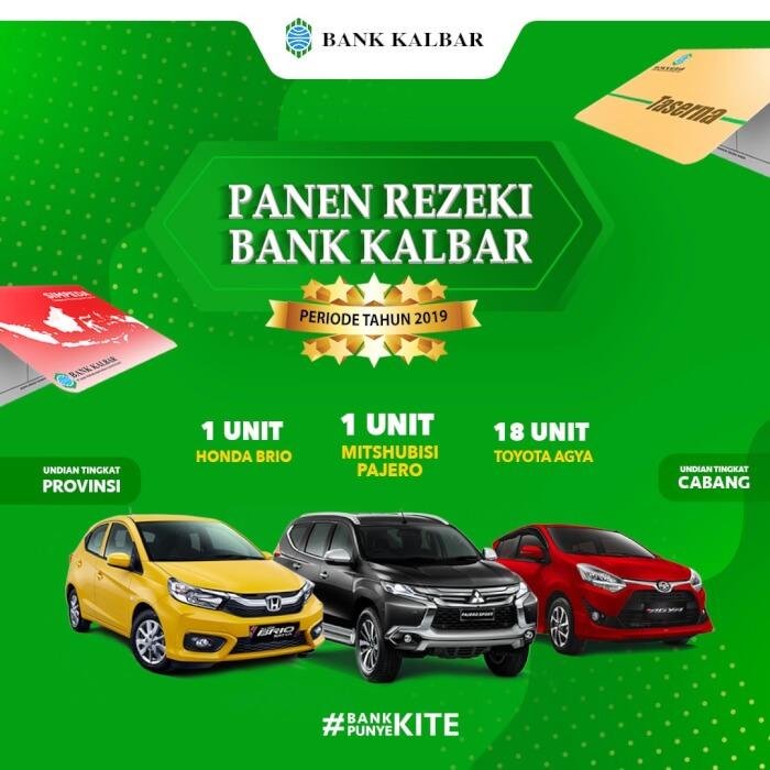Bank Kalbar Gelar Penarikan Undian Panen Rezeki Periode 2019