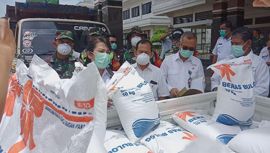 Bantuan Beras Tiba, 306,3 Ton untuk 15.316 KK